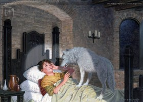 Bran Awakens ~ illustration by TED NASMITH